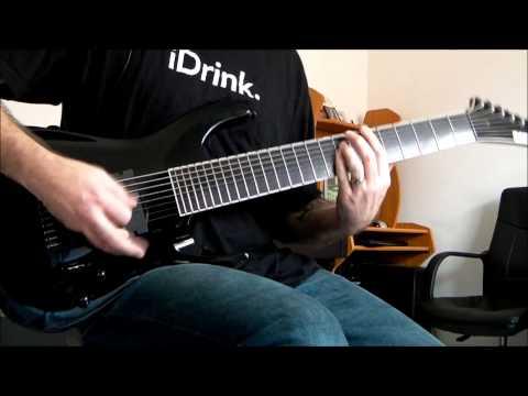 ESP Stef B8 - Deftones - Poltergeist 8 String Guitar Cover