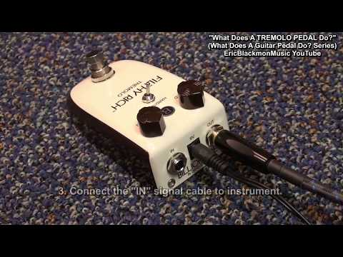 WHAT DOES A TREMOLO PEDAL DO? Guitar Effects Tutorial HD EricBlackmonGuitar