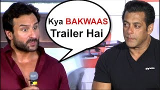 Video Saif Ali Khan's REACTION On Salman Khan's Race 3 Trailer- Video MP3, 3GP, MP4, WEBM, AVI, FLV Juni 2018