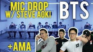 "Video BTS and STEVE AOKI ""MIC DROP REMIX"" +DNA @ AMA's (REACTION) MP3, 3GP, MP4, WEBM, AVI, FLV Juli 2018"