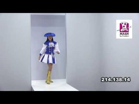 Costume Majorette Bleu-v29920