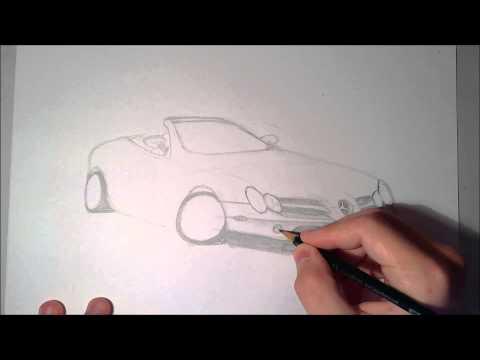 Zeichnen Lernen Mercedes Benz SLR McLaren
