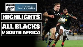 New Zealand v South Africa Rd.2 2019 Rugby Championship video highlights
