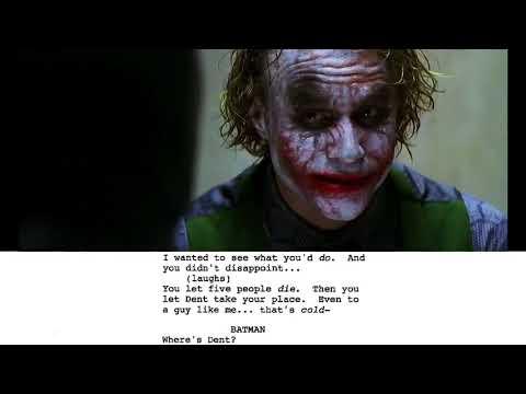 From Script to Screen The Joker Interrogation Scene - Featurette From Script to Screen The Joker Interrogation Scene (Anglais)