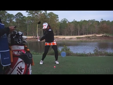 PORNANONG PHATLUM – DRIVER GOLF SWING FACE-ON SLOW MOTION 2014 CME TIBURON GOLF COURSE 1080p HD