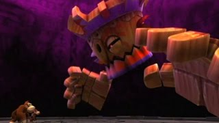 Donkey Kong Country Returns - All Boss Fights (2 Player)