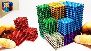 Video DIY How To Make Gaint Rainbow Cube with Magnetic Balls  | Magnetic Boy MP3, 3GP, MP4, WEBM, AVI, FLV Juni 2019