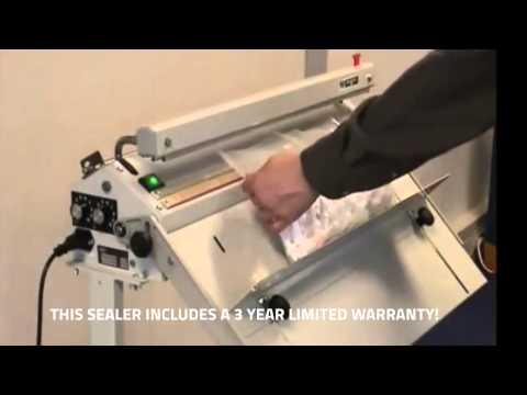 Evidence Bag Heat Sealer - code seal on Audion Magneta impulse sealer