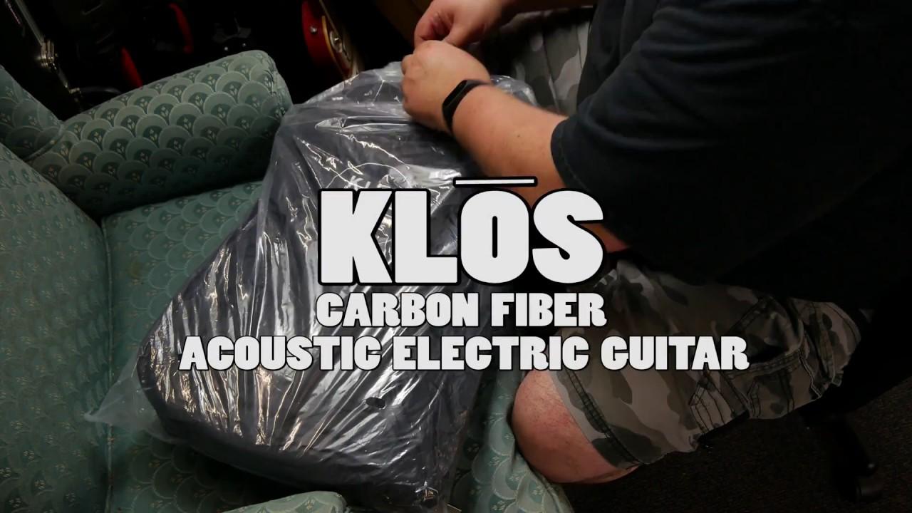 KLOS Carbon Fiber Travel Guitar (acoustic electric)