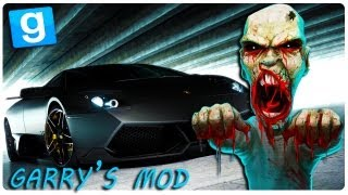 Gmod (Garry's Mod) - ZOMBIE CAR RACE (Car Mod)