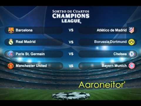 Sorteo de Cuartos de Final de la UEFA Champions League 2013-14