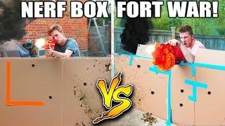"BOX FORT NERF WAR! in this box fort challenge video we play nerf fps and  have an epic nerf war with box forts. We build box fort bases and survive in them while playing nerf. We choose our nerf guns and toys then get to battle in this 1v1 nerf war video be sure to like for more funny challenge videos & toy vlog videos!Our other Box Fort Videos!BOX FORT ZOO CHALLENGE! 🐒https://youtu.be/ArSG0Wnj828BOX FORT Vs VOLCANO CHALLENGE!https://youtu.be/mOyGEkgYNS8BOX FORT Vs LIQUID NITROGEN CHALLENGE! https://youtu.be/mOyGEkgYNS8BOX FORT BOAT VS TSUNAMI CHALLENGE! https://youtu.be/yVUCcLQpFzY24 HOUR BOX FORT BOAT SURVIVAL CHALLENGE!https://youtu.be/I8MkP8Sm7WIBOX FORT BOAT SURVIVAL CHALLENGE! https://youtu.be/k1kGBjlyYzE24 HOUR BOX FORT CHALLENGE!Nerf Gun Battle Base (NERF) https://youtu.be/A9TbkyPIvecULTIMATE BOX FORT Vs THUNDERSTORM CHALLENGE ""Will We Survive?"" https://www.youtube.com/watch?v=2EQVbo0jX08&t=29sGet Awesome Papa Jake Merchandise! https://shop.bbtv.com/collections/team-epiphanySubscribe To My Gaming Channel - Papa Jake Games! https://www.youtube.com/watch?v=a01luoUVJ5cSubscribe To My Second Channel - Papa Jake Toyshttps://www.youtube.com/channel/UCmeNL9Nc2H1Mezu3gcb1hlAFOLLOW ME!!! LET'S BE FRIENDS:● Twitter - https://goo.gl/s1laJW● Facebook - https://goo.gl/sCnm8B● Instagram - https://goo.gl/x6H5Er● Snapchat - PapaJakeTE● Logan The Editor Instagram - https://goo.gl/842JeDCheck Out The Awesome Glowing 1000 degree KNIFE Videos:.com/watch?v=KiWNeqG_fp4MAIL ME STUFF :)119-660 Eglinton AVE.EAST SUITE 201 TORONTO, ON. M4G 2K2CanadaWARNING: This video is only for entertainment purposes. Do not attempt to recreate any of the acts in this video, as they may be dangerous if not done correctly, and could result in serious injury. If you rely on the information portrayed in this video, you assume the responsibility for the results. Have fun, but always think ahead, and remember that every project you try is at YOUR OWN RISK."