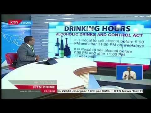 Drinking hours according to alcoholic drinks and control act