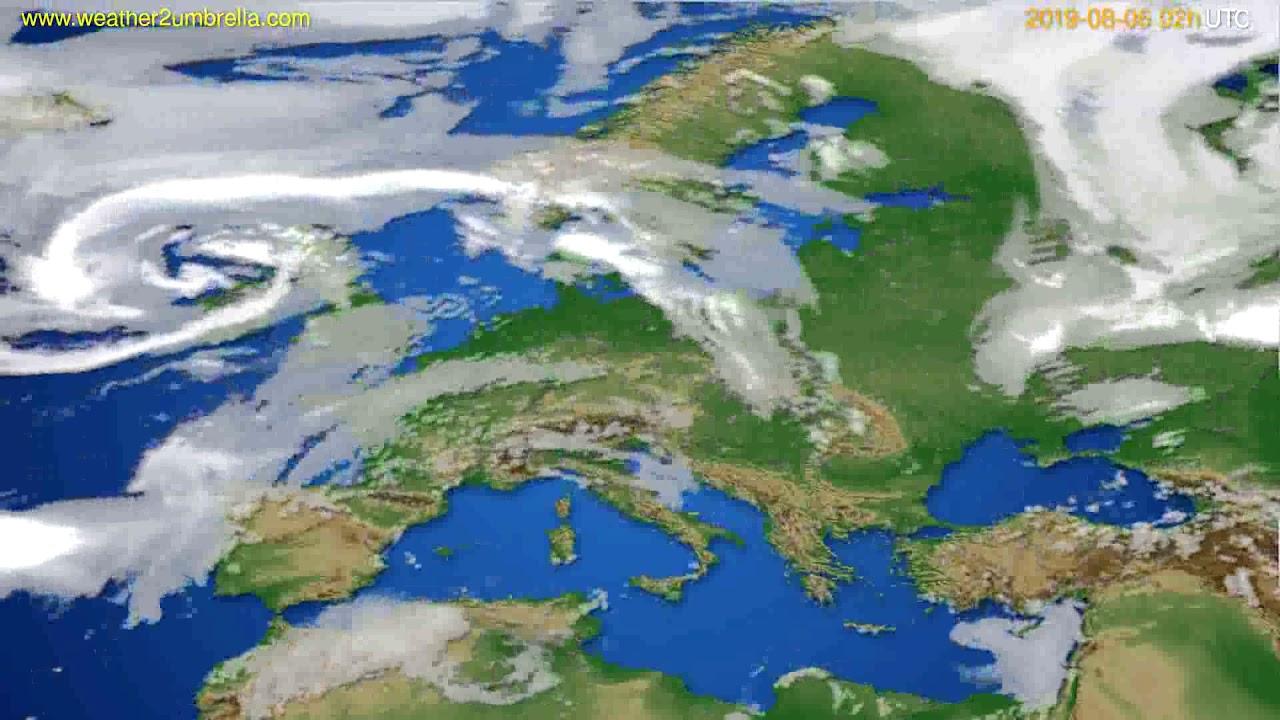 Cloud forecast Europe // modelrun: 12h UTC 2019-08-03