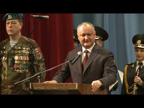 Igor Dodon a felicitat veteranii Forțelor Armate și Organelor de Drept