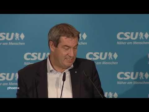 CSU: Abschluss-Pressekonferenz der Klausurtagung mit Söder, Dobrindt und Blume