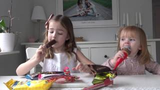 Hailey och Chloe testar årets nyheter från GB glassar sommar 2017