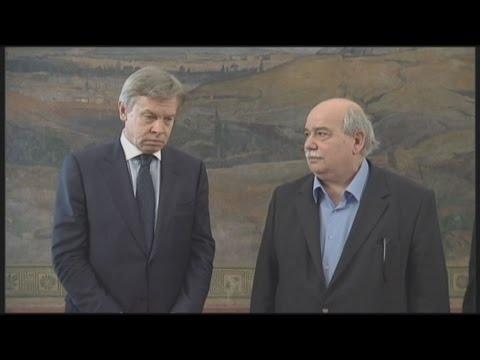 Συνάντηση  Νίκου Βούτση με τον Alexey Pushkov