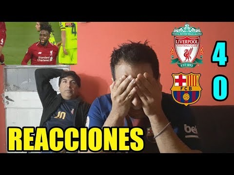¡HUMILLADOS! REACCION LIVERPOOL 4 BARCELONA 0