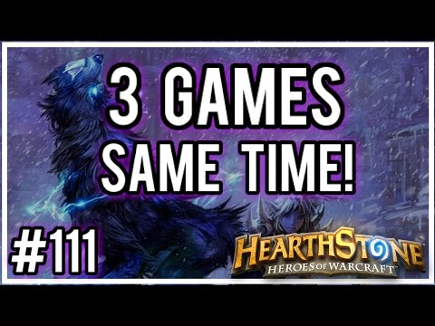 [Hearthstone Challenges] #111 - 3 Games Played at the Same Time! (видео)