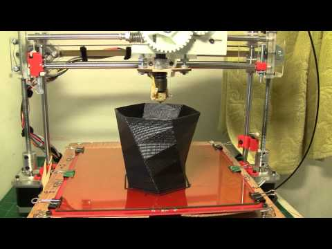 Printing a vase with FUS3D Printer – My home made 3D Printer