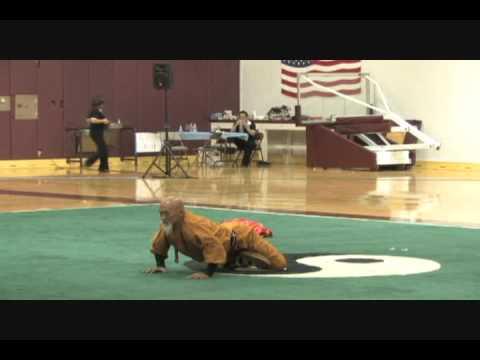 Shao Lin Master 2009 USAWKF Wushu Team Trials Master Demo Shaolin KungFu