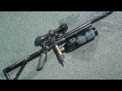 Homemade  semi automatic airgun