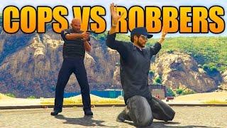 GTA 5 ONLINE - COPS AND ROBBERS! (GTA 5 Cops Vs Crooks)