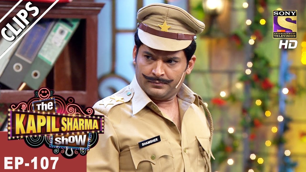 Kapil As Inspector Shamsher & His Hilarious Antics – The Kapil Sharma Show – 20th May, 2017