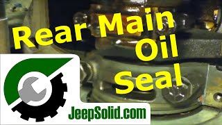 10. Jeep rear main oil seal and oil pan gasket