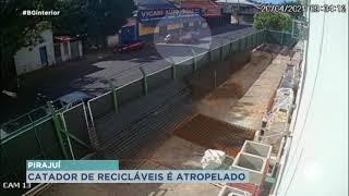 Motorista foge após atropelar catador de recicláveis em Pirajuí