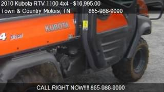 4. 2010 Kubota RTV 1100 4x4 CAB w/ A/C and Heat - for sale in L