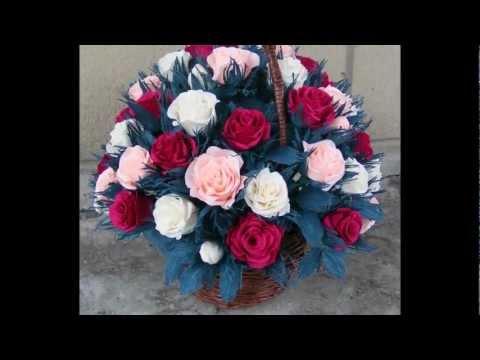 Róża kwiaty krepina włoska Rose flower Tutorial