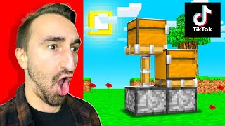 Testing 5 NEW Viral Minecraft Tiktoks To See If They Work