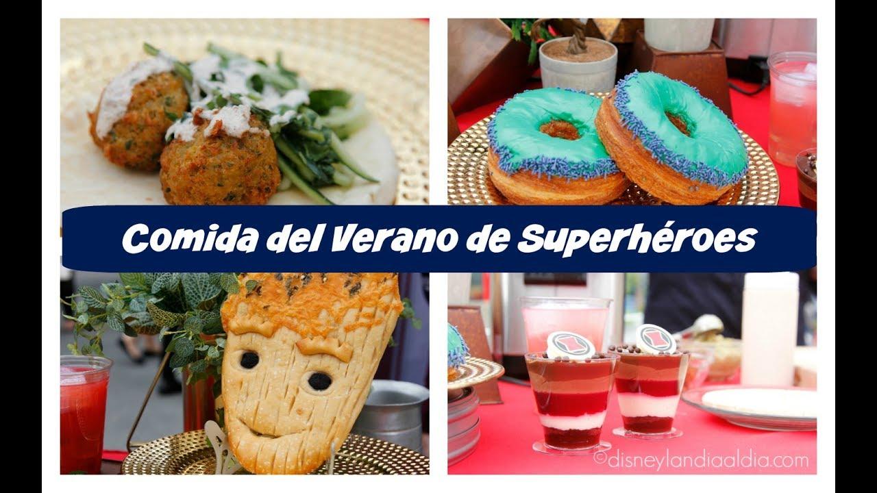 Comida de Verano de Superhéroes