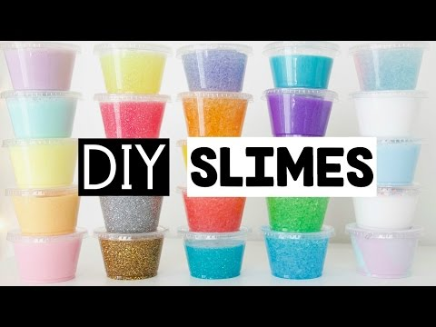 MAKING 25 AMAZING DIY SLIMES - Four EASY Slime Recipes!