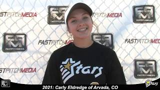 2021 Carly Eldredge Slapper, Third Base and Shortstop Softball Player Skills Video - Colorado Stars