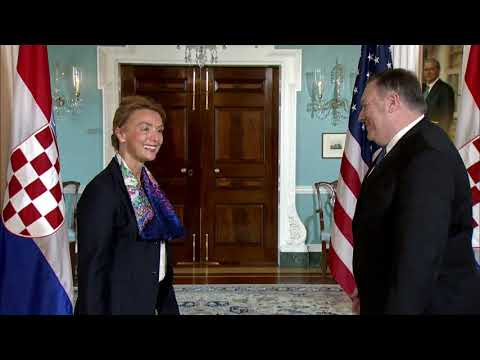 Secretary Pompeo meets with Croatian Foreign Minister Buric