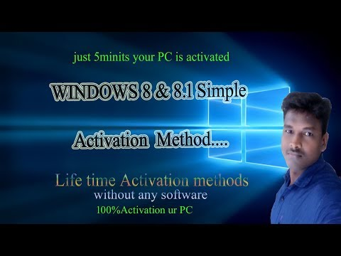 WINDOWS 8 and 8.1 simple Activation  method