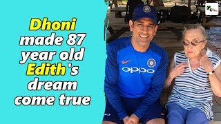 Exclusive: MS Dhoni made the day for 87 year old Edith at SCG.  Find how?