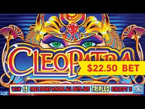 Cleopatra Slot – HIGH LIMIT $22.50 Max Bet BIG WIN Bonus!