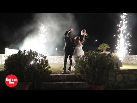 Κτήμα Απελληκών γάμος είσοδος με συντριβάνια & χορός