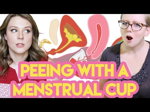 Peeing with a Menstrual Cup