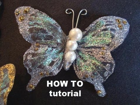Super making nylon butterflies and flowers one these