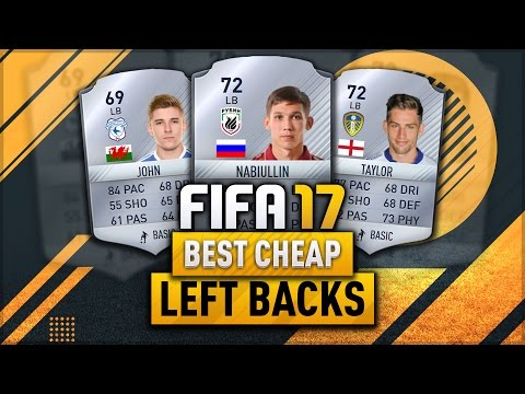 FIFA 17 Best Cheap Left Backs In Career Mode! Bargain High Potential Players (видео)