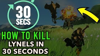 This video shows you How to Beat a Lynel in 30 Seconds or Less in Zelda Breath of The Wild.  Learn how to beat and kill Red Lynels and Silver Lynels with incredibly fast and crushing force. LITTLE TO NO SPECIAL ARMOR OR WEAPONS NEEDED!This method shows the ULTIMATE FASTEST way to beating a Lynel.  Let's call it Lynel destruction. My favorite that I show method simply cannot be topped. If you farm Lynels you can retrieve high powered weapons such as lynel bows, lynel shields, and lynel swords by battling these awesome foes. These enemies often drop 5 shot bows which burst 5 arrows at one time which are really awesome botw weapons. Don't worry, even though 5 arrows are shot Link only loses one arrow :) Please Subscribe :) Enjoy!----------------------------------------------------------------------CHECK OUT SOME OF MY OTHER SUPER COOL VIDEOS!$2300 ELIXIR - LYNEL ELIXIRhttps://youtu.be/v4_5Q1We3n0GET TONS OF ANCIENT ARROWS:https://youtu.be/OFfaFblwn1QHOW TO MAKE MONEY FAST - https://youtu.be/_71dOI6S7JY---------------------------------------------------------------------Gear Used to Make this Video:1) El Gato HD60 Game Capture Card - http://amzn.to/2sol0qB2) iMac 27 Inch Retina 5K - http://amzn.to/2rLf5up3) Blue Snowball - http://amzn.to/2s7glIVDISCLAIMER: This video and description has amazon affiliate links, and this means that if you click on one of the product links above which shows the gear I used to make this video with, I'll get a small commission. This helps support my channel and allows me to grow bigger and better and continue making the best game content I can! Thank you for the support in advance! Cheers!