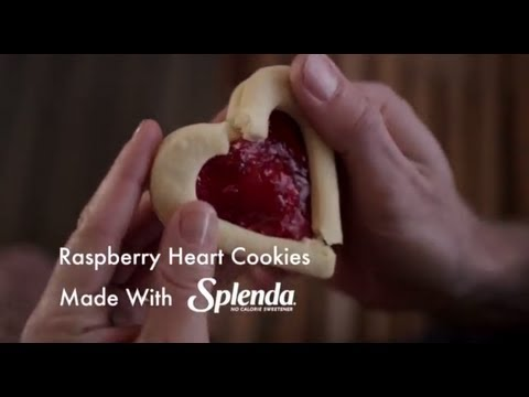 Raspberry Heart-Shaped Cookie Recipe with SPLENDA® Sweetener