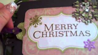My first video of the Nutcracker Ballet Mini Album using the Sizzix Fanciful Album Die