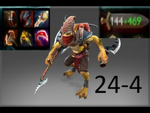 Dota 2 Ranked MMR Bounty Hunter 24-4 - Darionn17