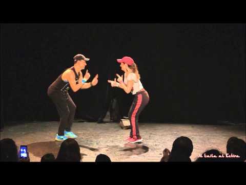 Zomzom and Yaël Zarca - Street shaabi duet in Paris 2014 (видео)